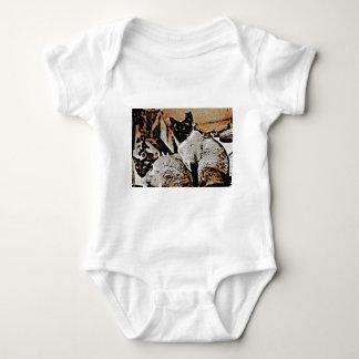 Siamese Cats of Yore Baby Bodysuit