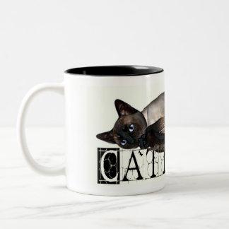 Siamese Cattitude Two-Tone Coffee Mug