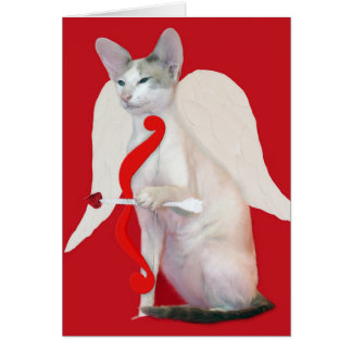 Siamese Cupid Valentine's Day Greeting Card