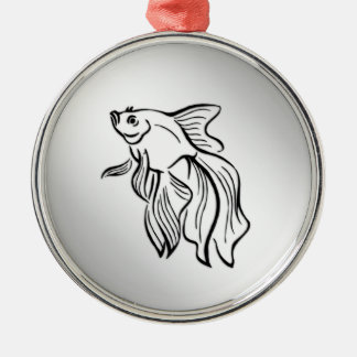 Siamese Fighting Fish Christmas Ornament
