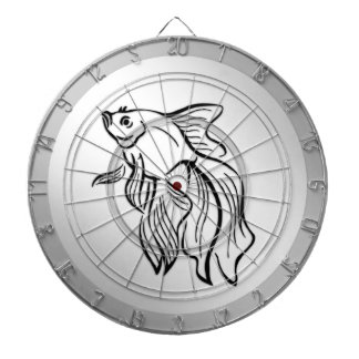Siamese Fighting Fish Dartboard