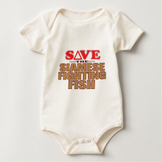 Siamese Fighting Fish Save Baby Bodysuit