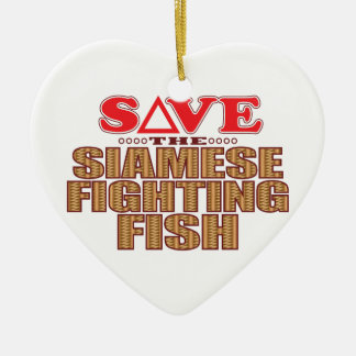Siamese Fighting Fish Save Christmas Ornament