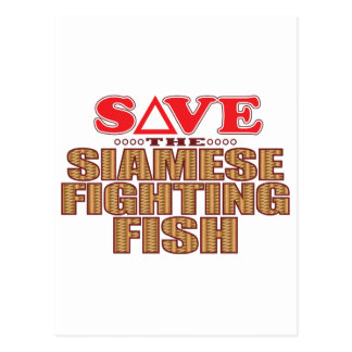 Siamese Fighting Fish Save Postcard