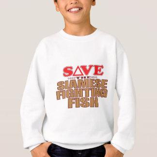 Siamese Fighting Fish Save Sweatshirt