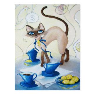 Siamese - fine art postcard