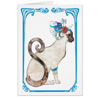 Siamese Greeting Card