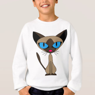 Siamese If You Please  - Cartoon Siamese Cat Sweatshirt