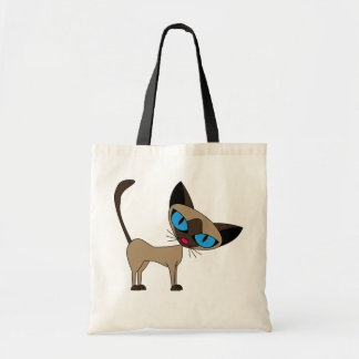 Siamese If You Please  - Cartoon Siamese Cat Tote Bag