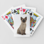 Siamese Kitten Cat Playing Cards
