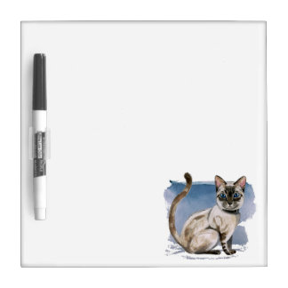 Siamese Kitten Watercolor Painting Dry Erase Board