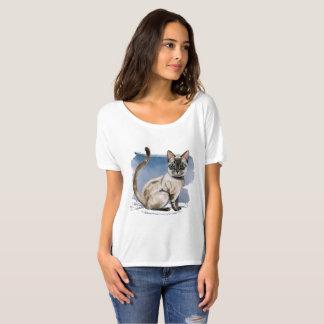 Siamese Kitten Watercolor Painting T-Shirt