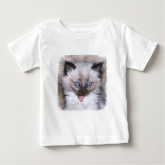 Siamese Kitten With Tongue Out Baby T-Shirt