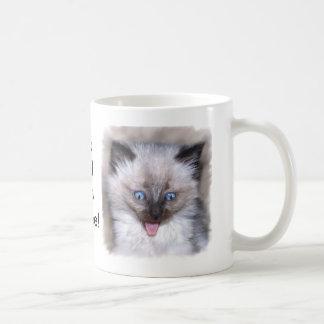 Siamese Kitten With Tongue Out Basic White Mug