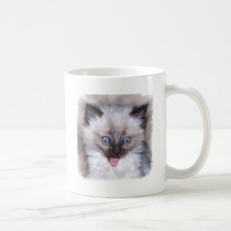 Siamese Kitten With Tongue Out Classic White Coffee Mug