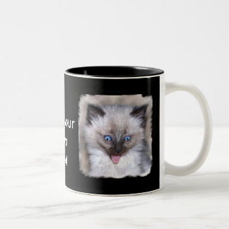 Siamese Kittien with Tongue Out Mug