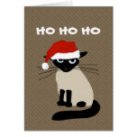 Siamese Kitty Clause - Funny Cat Christmas