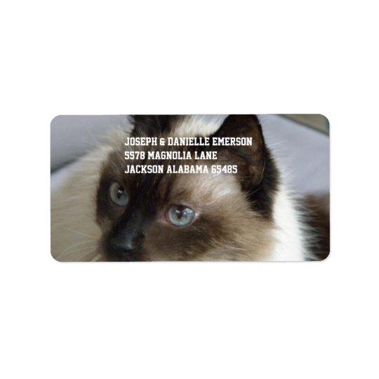 Siamese Kitty Label