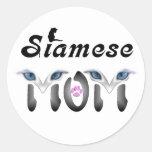 Siamese Mum Gifts Round Sticker
