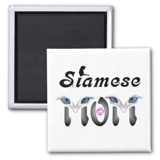 Siamese Mum Gifts Square Magnet