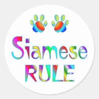Siamese Rule Classic Round Sticker