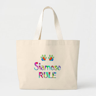 Siamese Rule Large Tote Bag