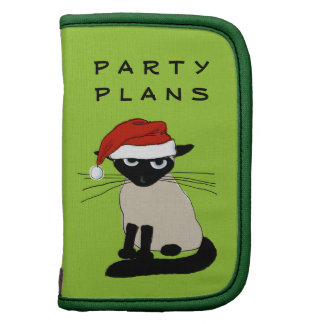 Siamese Santa Claws - Funny Christmas Kitty Cat Folio Planners