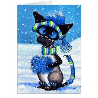 Siamese Snow Card