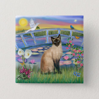 Siamese  - Sunrise Lilies 15 Cm Square Badge