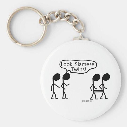 Siamese Twins Key Ring