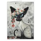 Siamese Valentine Hearts Card