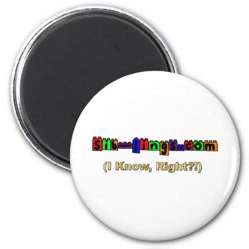 Sib-Lings.com Logo Refrigerator Magnets