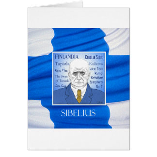 SIBELIUS greetings card
