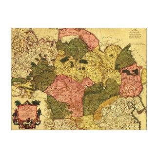 Siberia, RussiaPanoramic MapSiberia, Russia Canvas Print