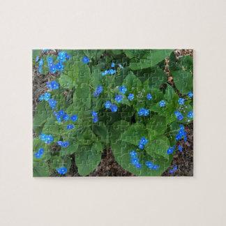 Siberian Bugloss – Blue and Green - Jigsaw Puzzle