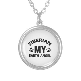 SIBERIAN CAT DESIGN SILVER PLATED NECKLACE