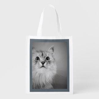Siberian Cat Grocery Tote