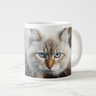 Siberian Cat In A Autumn Forest Large Coffee Mug