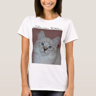 Siberian Colorpoint Kitten on products T-Shirt