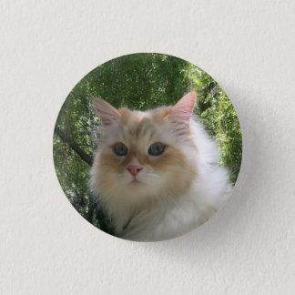 Siberian Forest Cat 3 Cm Round Badge
