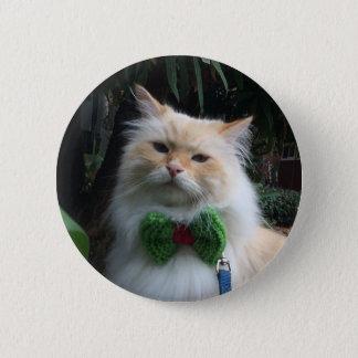 Siberian Forest Cat 6 Cm Round Badge