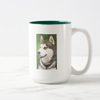 Siberian Huskey Dog Art Mug