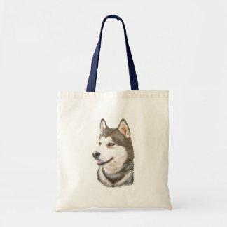 Siberian Huskey Dog Tote Bag