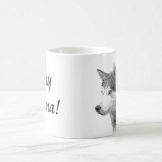 Siberian Huskies Dog , Husky Momma Coffee Mug