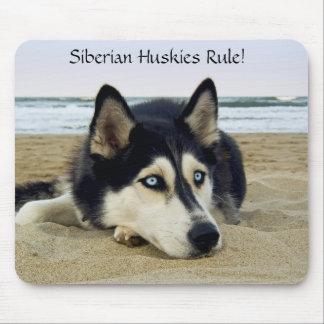 Siberian Huskies Rule Mousepad