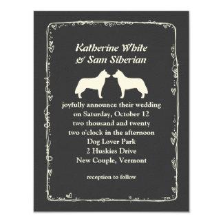 Siberian Huskies Wedding Announcement