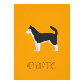 Siberian Husky 17 Cm X 22 Cm Invitation Card