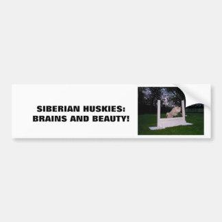 Siberian HUSKY Agility Bumper Sticker