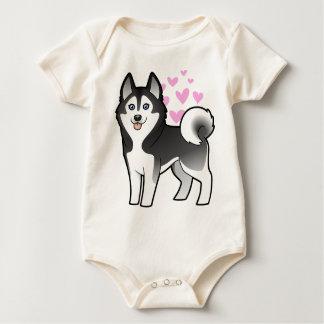Siberian Husky / Alaskan Malamute Love Baby Bodysuit