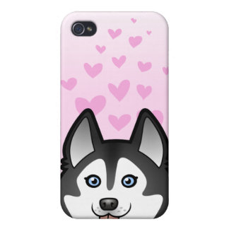 Siberian Husky / Alaskan Malamute Love Cover For iPhone 4